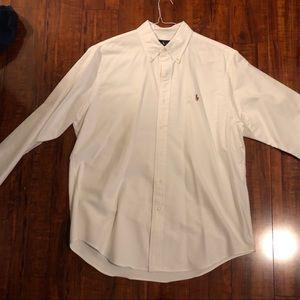 White Ralph Lauren Oxford button down